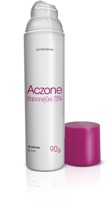 A photo of the Aczone product container